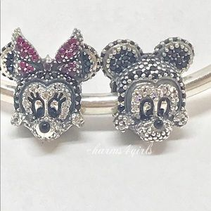 Authentic PANDORA Set of 2 Minnie & Mickey